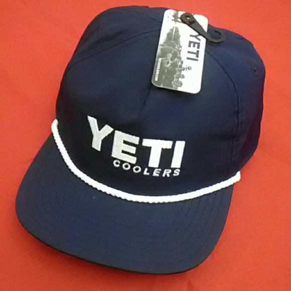 9506ef7e Yeti Accessories   Nwt Cooler Navy Rope Hat Onesize   Poshmark